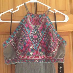 NWT Gorgeous Lulu's Maxi Halter Dress